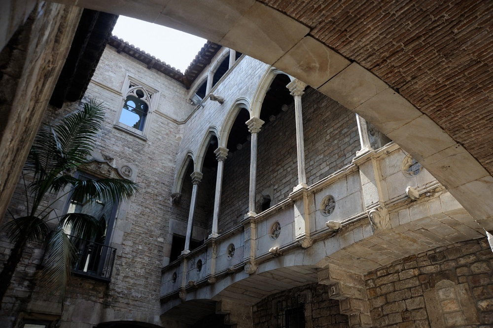 The Museu Picasso's cloister in Barcelona