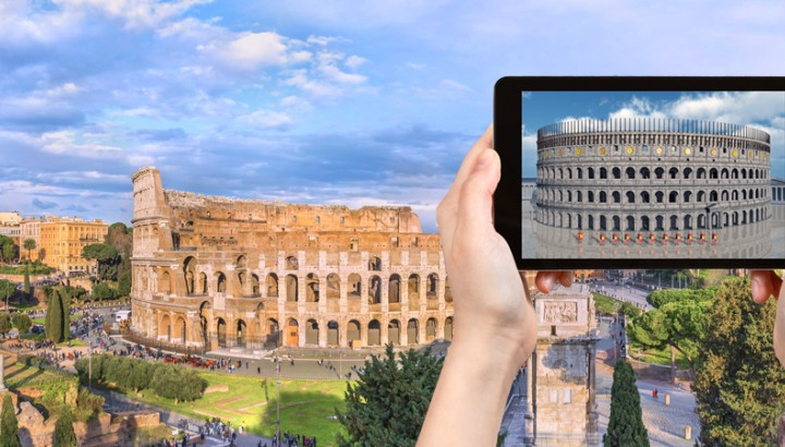 Virtual reality private kids tour of the Colosseum