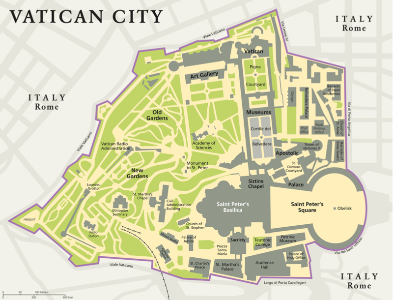 Vatican City Map