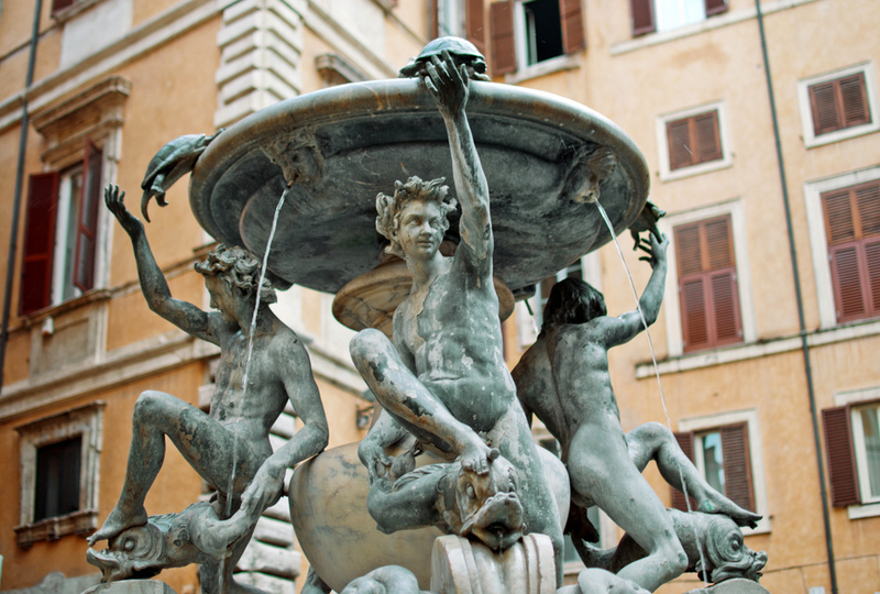 Tortles Fountain in Rome