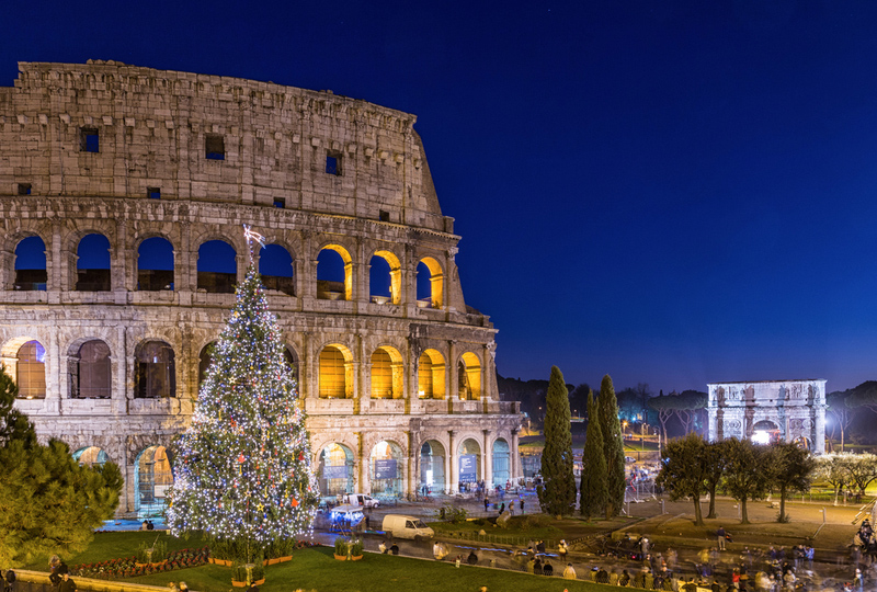 Best christmas market in Rome Italy