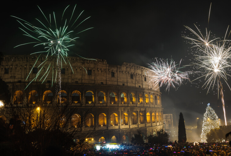 New Year Eve near Colosseum