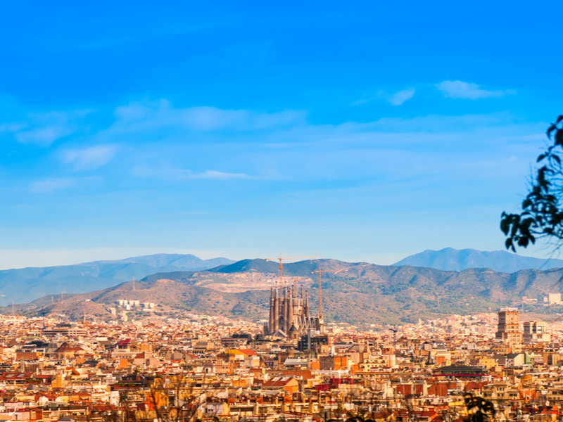Barcelona from Montjuic hill