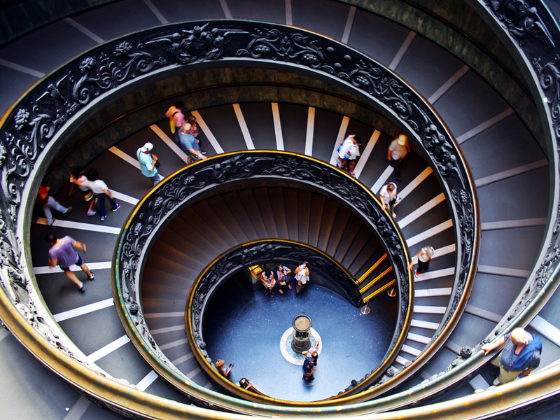 Bramante Staircase at the Vatican