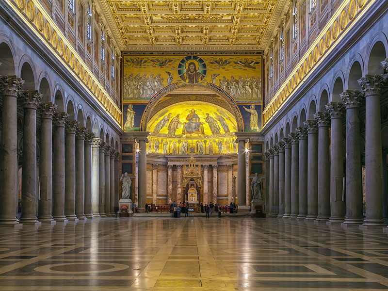Interior of Saint Paul Outside the Walls in Rome