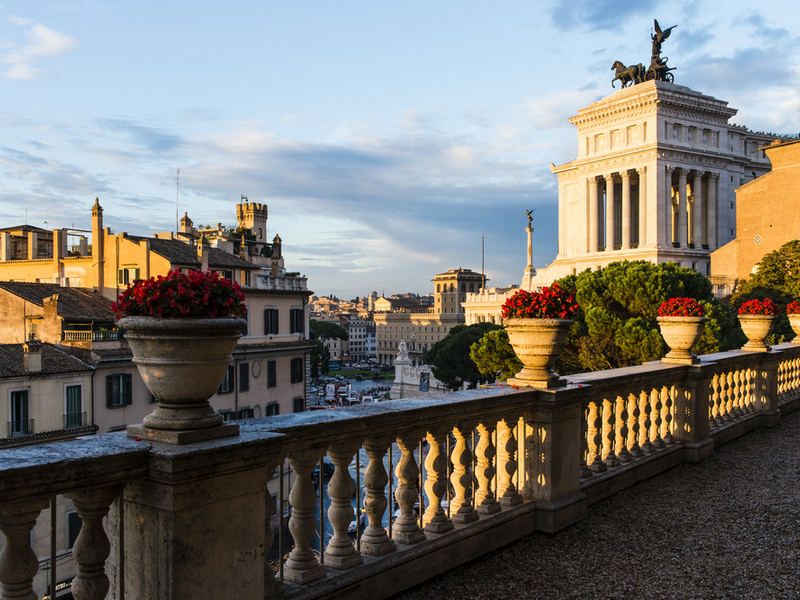 Sunset at Caffarelli Terrace in Rome