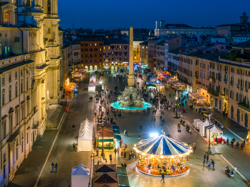 Christmas Market in Piazza Navona, Rome